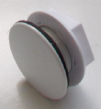 White Plastic Cover Kitchen Sink Tap Hole Blank Stopper - 54001580